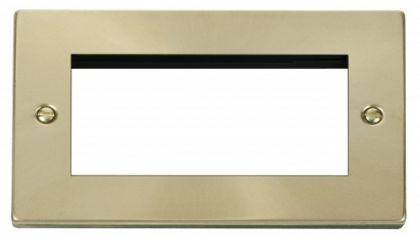 Scolmore Click Deco VPSB312 Double Plate (Quad Media Module Aperture)