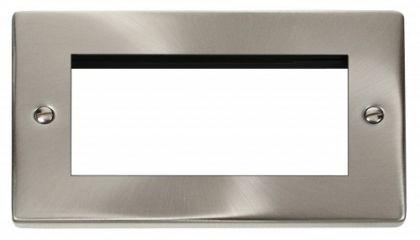 Scolmore Click Deco VPSC312 Double Plate (Quad Media Module Aperture)