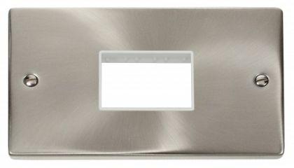 Scolmore Click Deco VPSC432WH Double Minigrid Plate Triple Aperture - White