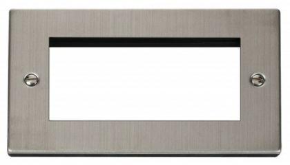 Scolmore Click Deco VPSS312 Double Plate (Quad Media Module Aperture)