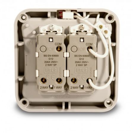 WP42 2 Gang 2 Way 20A Weatherproof Switch