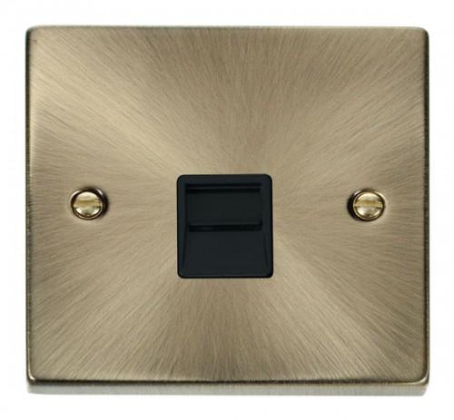 Click Deco Antique Brass VPAB Data Sockets
