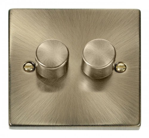 Buy VPAB Antique Brass Click Dimmers | PEC Lights