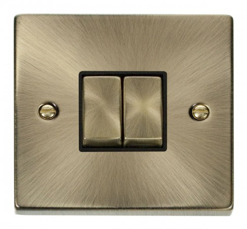Buy VPAB Antique Brass Click Switches | PEC Lights
