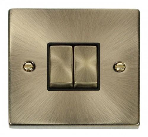 Click Deco Antique Brass VPAB Switches