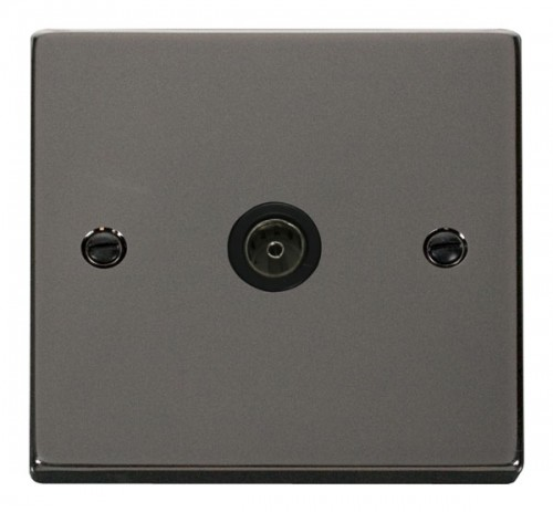 Buy VPBN Black Nickel Click TV Sockets | PEC Lights