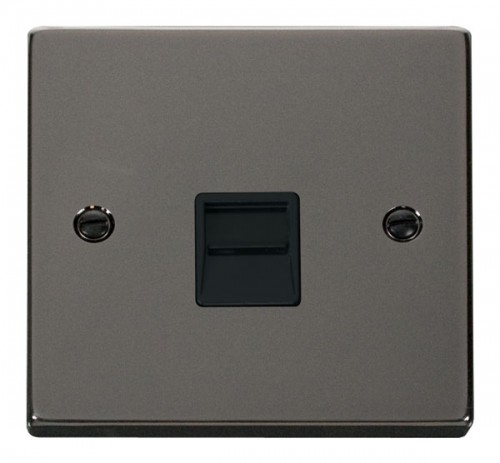 Buy VPBN Black Nickel Click Telephone Sockets | PEC Lights