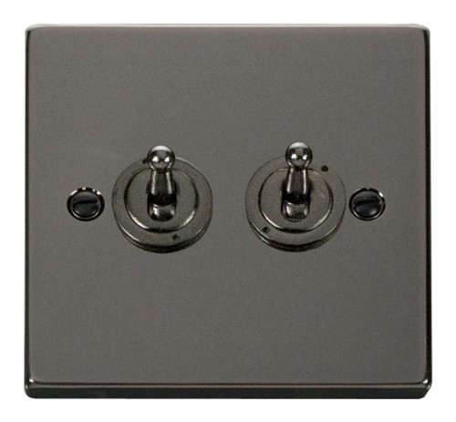 Click Deco Black Nickel VPBN Toggle Switches