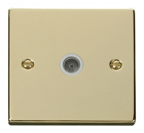 Buy VPBR Polished Brass Click TV Sockets | PEC Lights