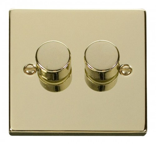 Buy GCBR Georgian Brass Click Dimmers | PEC Lights