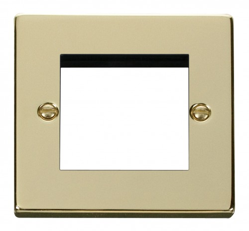Buy VPBR Polished Brass Click Media Plates | PEC Lights