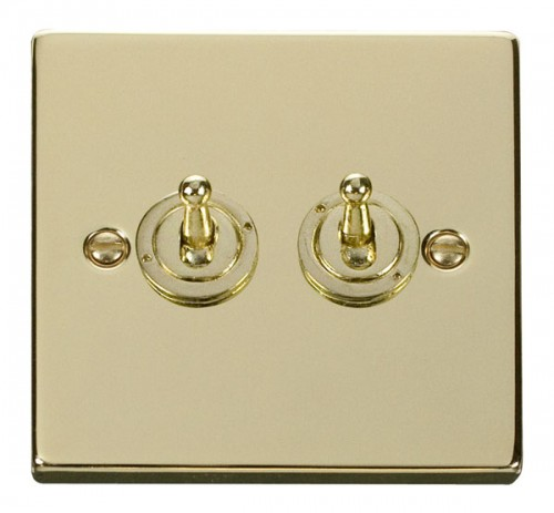 Buy VPBR Polished Brass Click Toggle Switches | PEC Lights