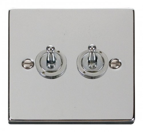 Buy VPCH Polished Chrome Click Toggle Switches| PEC Lights