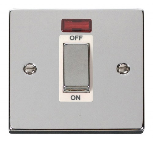 Buy VPCH Polished Chrome Click Cooker Switches | PEC Lights
