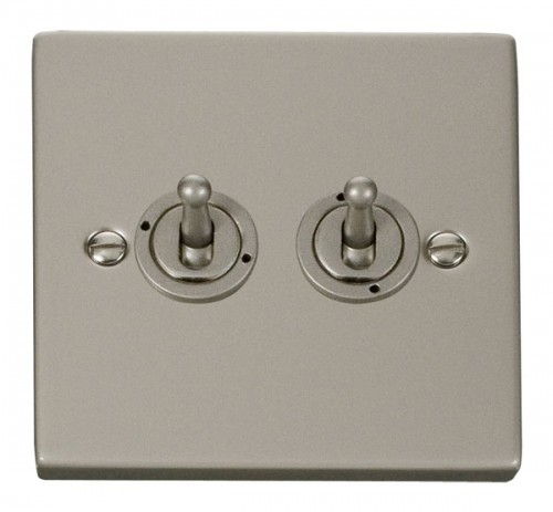 Click Deco Pearl Nickel VPPN Toggle Switches