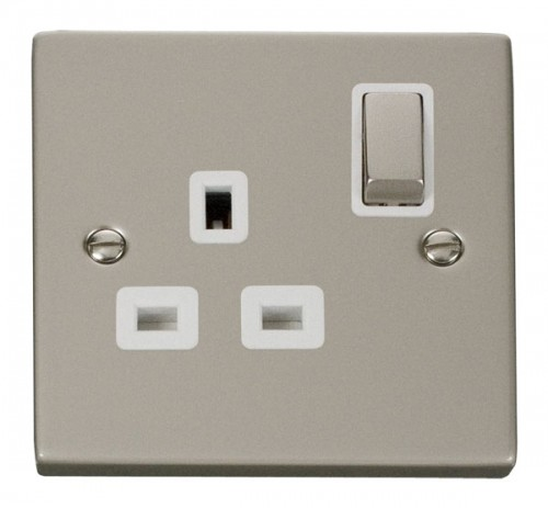 Click Deco Pearl Nickel VPPN Socket Outlets