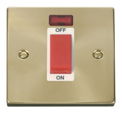 Buy VPSB Satin Brass Click Deco Cooker Switches | PEC Lights