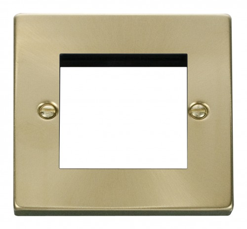 Buy VPSB Satin Brass Click Deco Euro Module Media Plates | PEC Lights