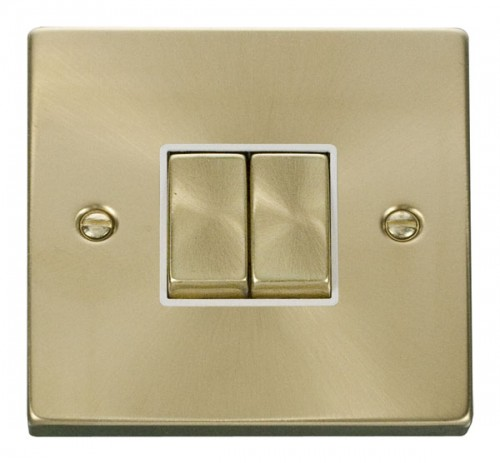 Buy VPSB Satin Brass Click Deco Rocker Switches | PEC Lights