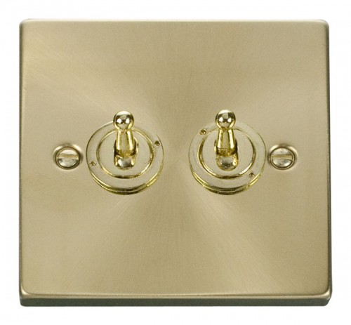 Click Deco Satin Brass VPSB Toggle Switches
