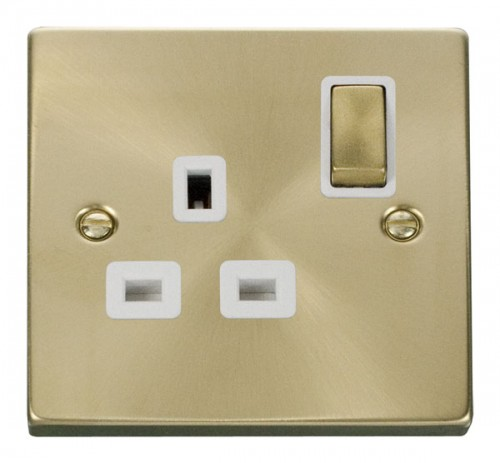 Buy VPSB Satin Brass Click Deco Switches and Sockets | PEC Lights