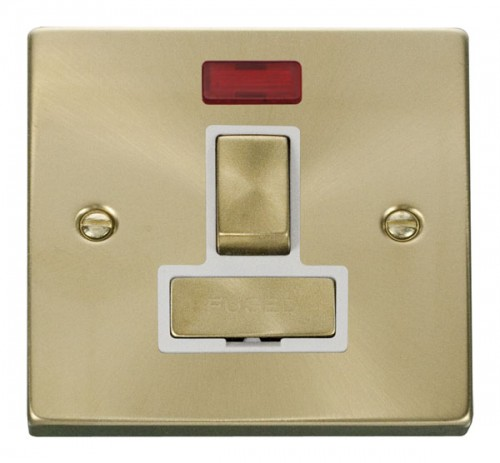 Buy VPSB Satin Brass Click Deco Spur Switches | PEC Lights