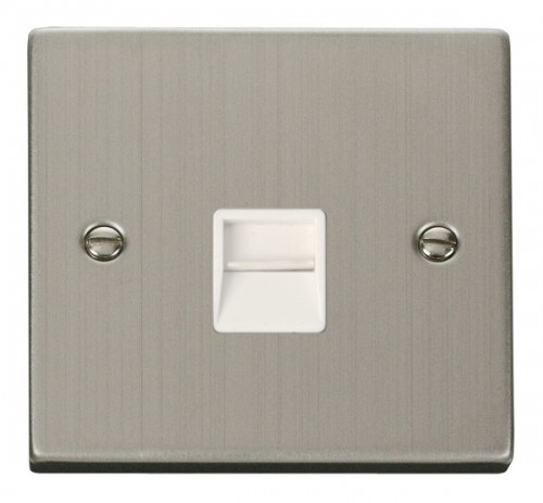 Buy VPSS Stainless Steel Click Telephone Sockets | PEC Lights