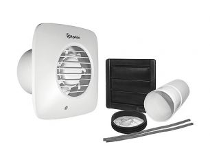 Xpelair Simply Silent DX100S Square Extractor Fan Standard