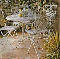 """""""Cafe Range"""" Rectangular Table and 4 Chairs"""