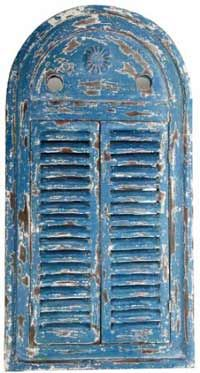 Shuttered Mirror (Blue, Distressed-style)