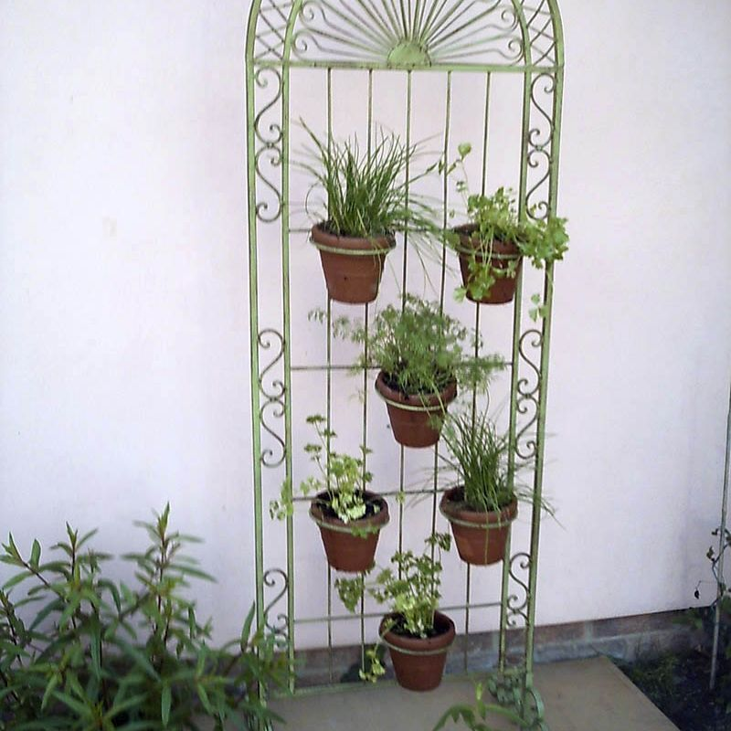 Plant Screen with 6 Pots (Green, Pair)
