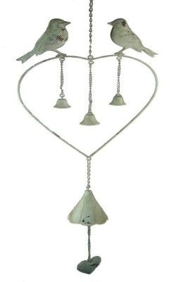Heart Wind Chime with Bells