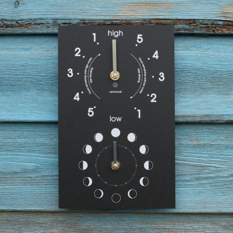 Moon and Tide Clock - Recycled