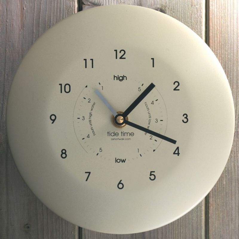 Eco Recycled Time and Tide Clock - Stainless