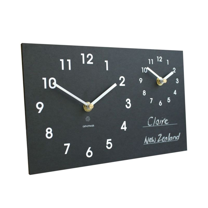 Eco Recycled Time Zone Clock