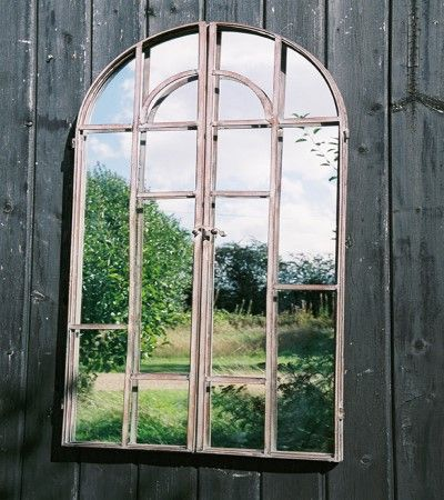 """Flaunden"" Metal Framed Gate/Window Mirror"