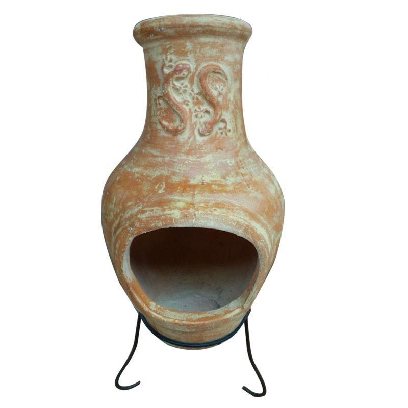 Garden Outdoor Large Terracotta Clay Mexican Chimenea Patio Heater