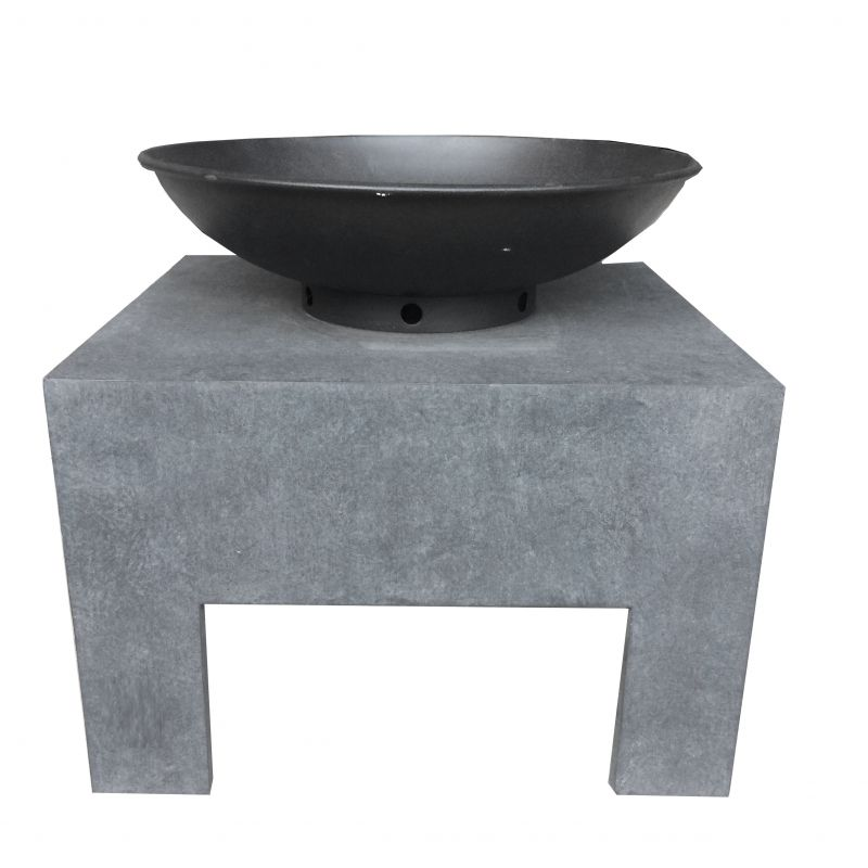 Garden Metal Fire Bowl With Square Stand