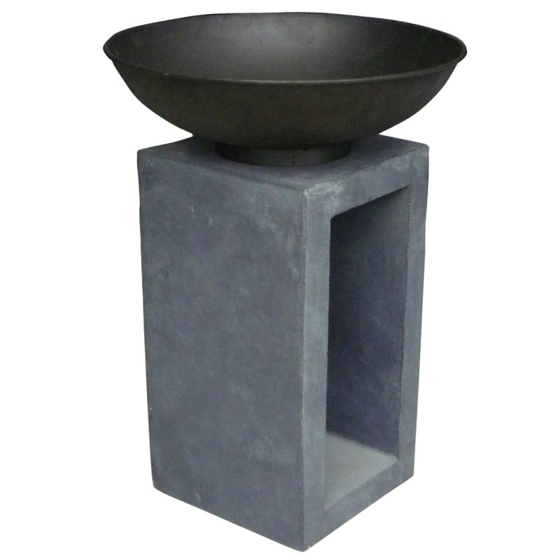 Garden Metal Fire Bowl With Hollow Console - Available in Medium & Large