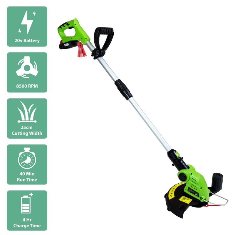 20V Cordless 2 in 1 Grass Trimmer And Edger