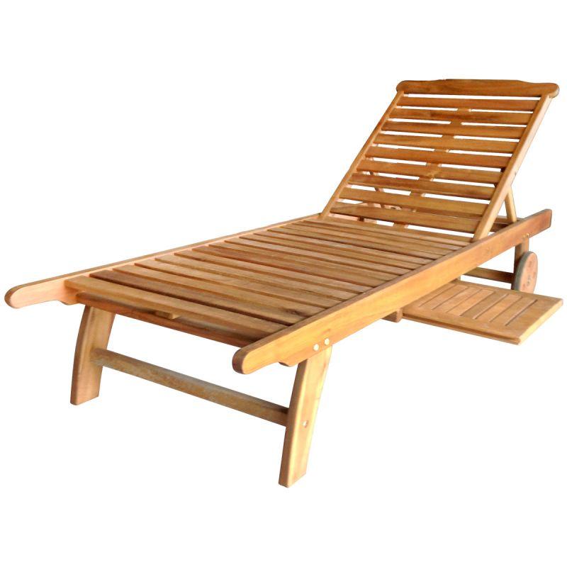 Hardwood Wooden Sun Lounger