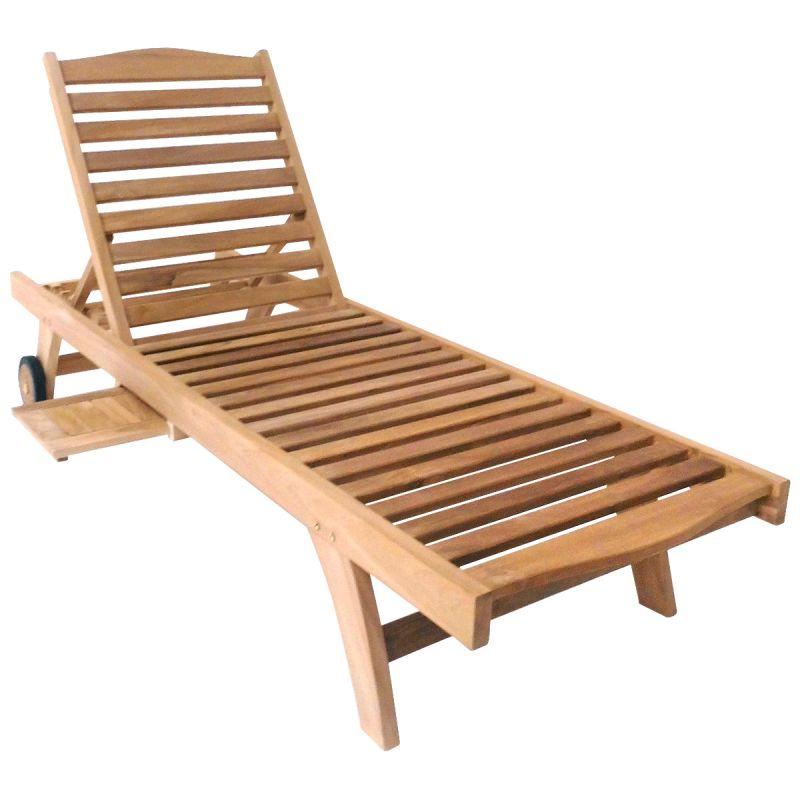 Premium Teak Garden Sun Lounger