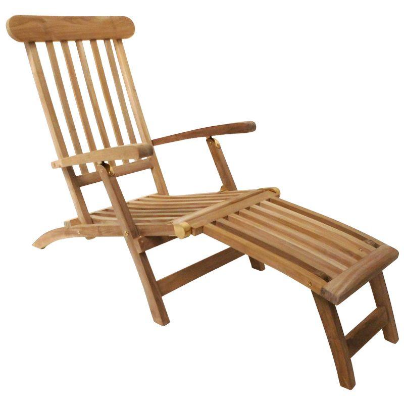 Teak Steamer Chair / Sun Lounger