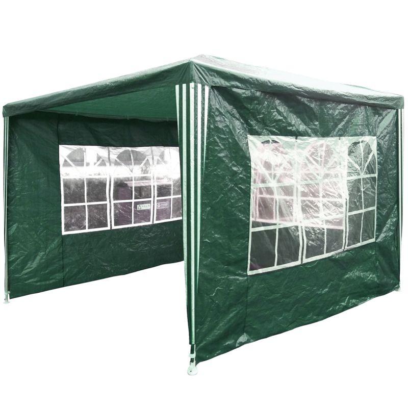 Garden 3m x 3m Gazebo/Tent - Green