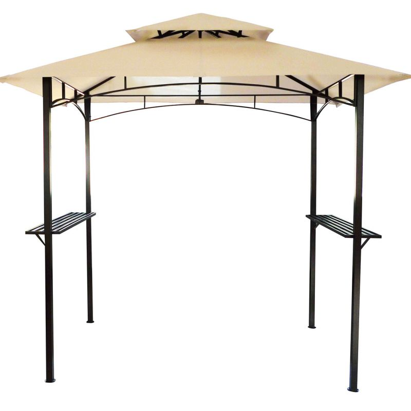 8 x 5 Ft Steel Gazebo - Available in Beige and Grey