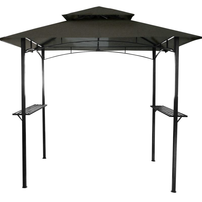 Rectangle BBQ Steel Gazebo with Canopy Shelter