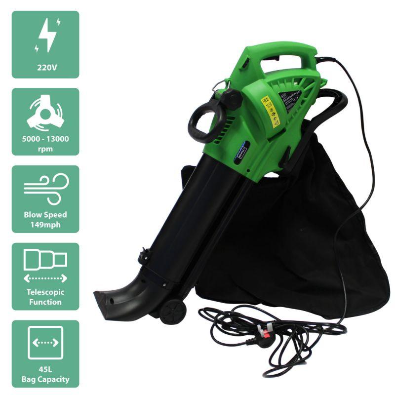 3000W Electric 220V Leaf Blower / Vacuum / Shredder