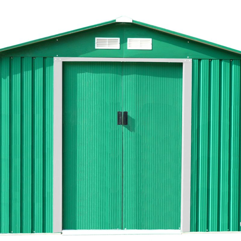 8ft x 10ft Metal Garden Shed With Floor Foundation