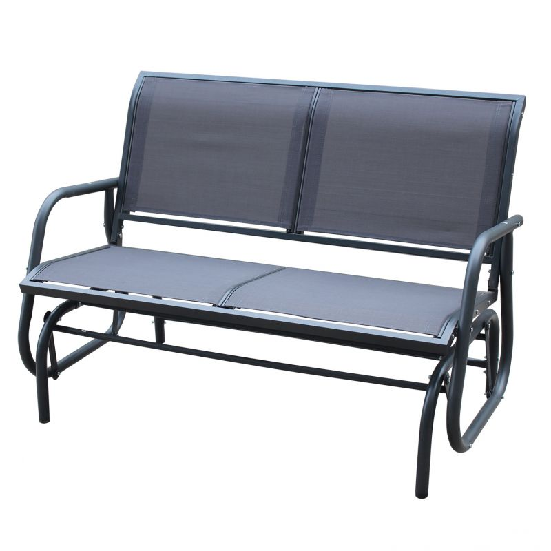 Garden 2 Seater Rocking Bench - Grey