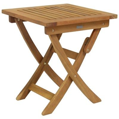Small Square Foldable Side Table FSC Certified Hardwood Garden Furniture